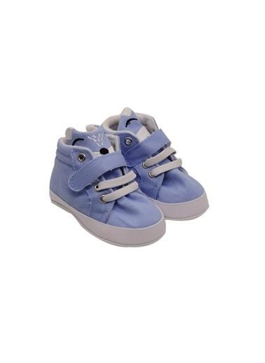 First Step Bebek Tilki Detaylı Ayakkabı Mavi Mavi